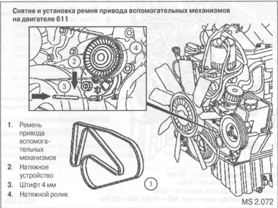 Схема грм 124 двигатель