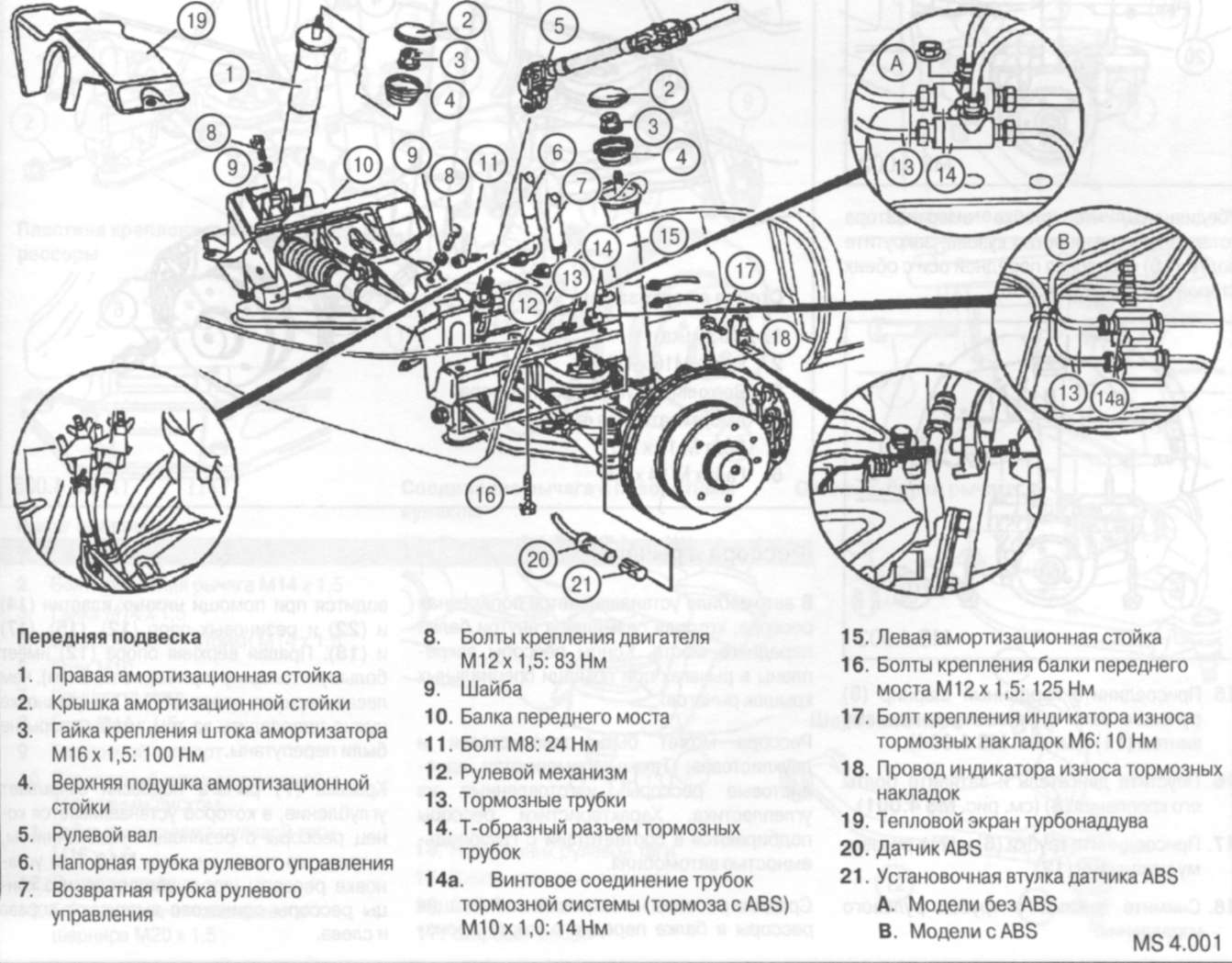 6.2.1 Подвеска передних колес