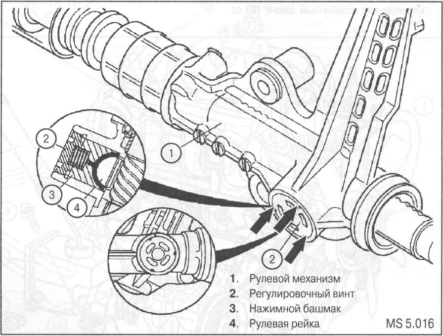 7.6 Снятие и установка рулевого механизма