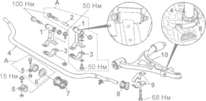 передняя подвеска мерседес 163