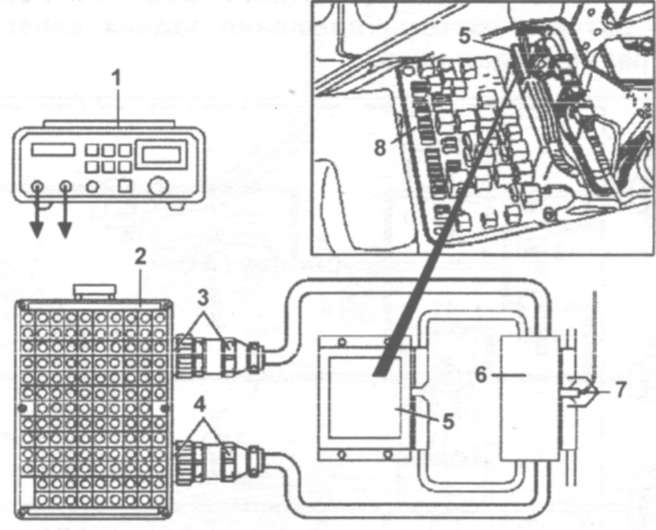 Проверка цепи ЭБУ системами