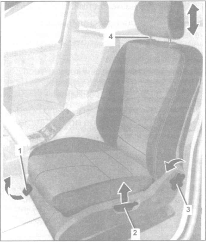 6.16.1 Регулировка положения сидений