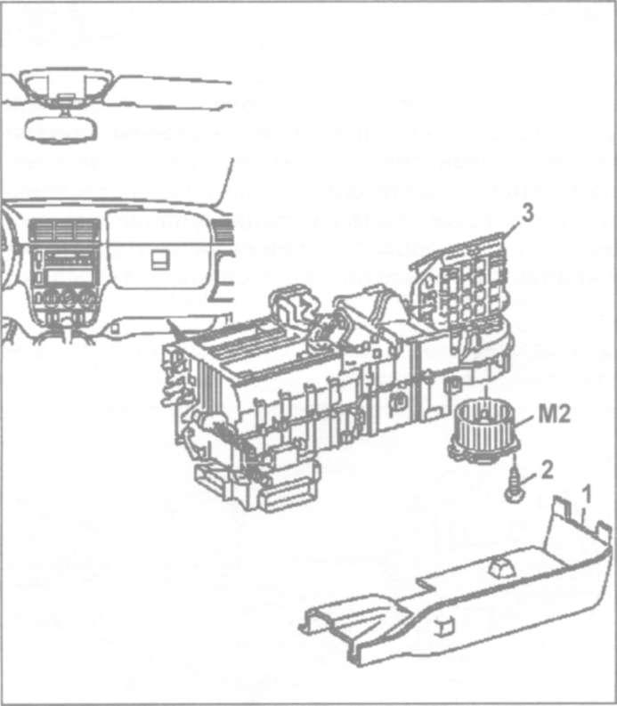 23.5 Сборка и разборка блока кондиционера и отопителя