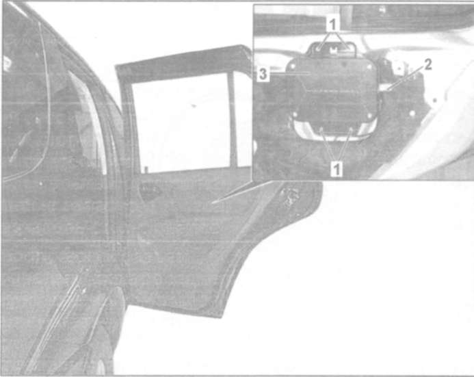 24.7 Снятие и установка боковых подушек безопасности в передних дверях
