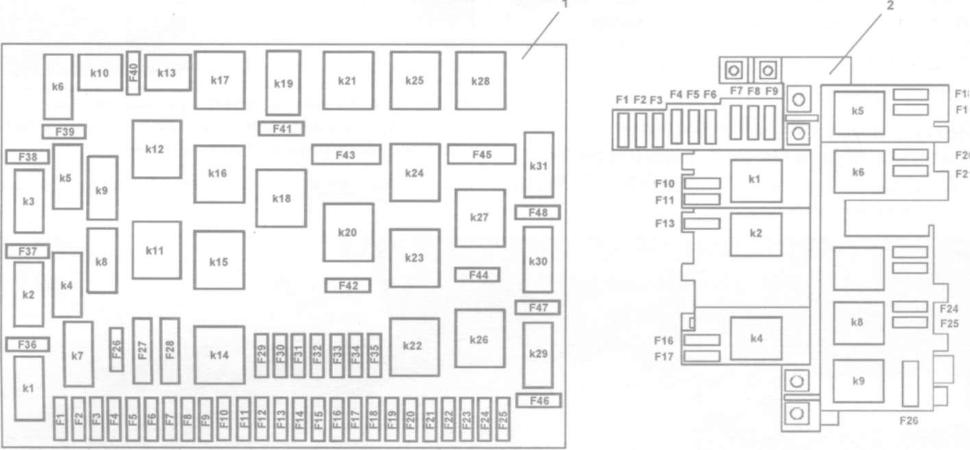 схема центрального замка на мерседесе мл 320