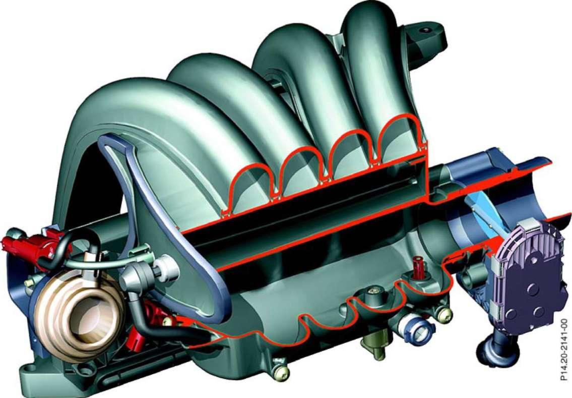 3.1.5 Расположение деталей на двигателе