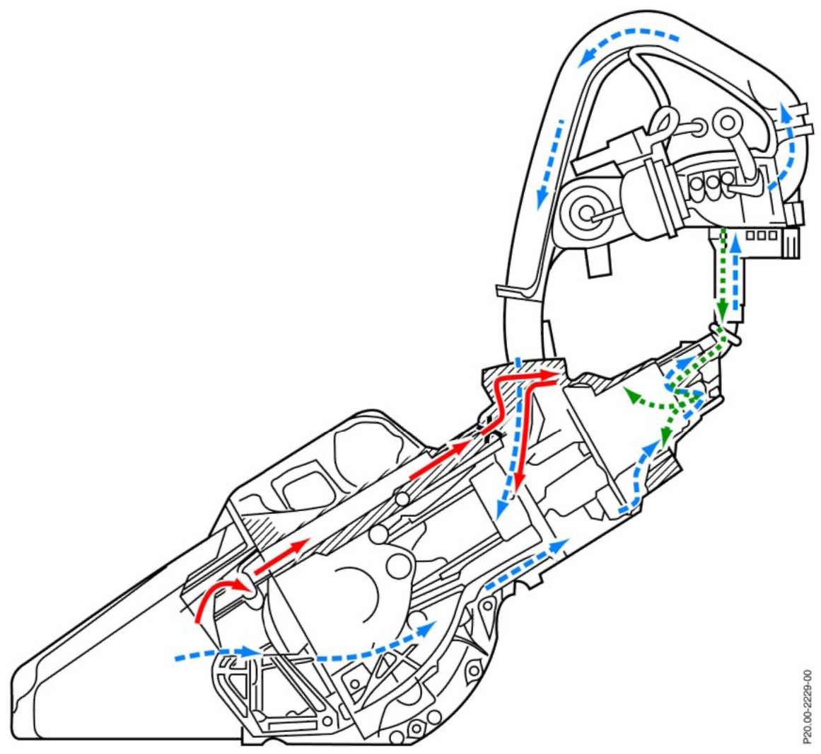 схема системы охлаждения d4ea