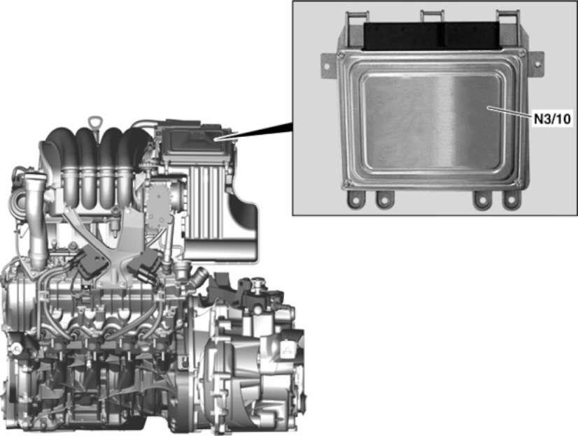 3.1.11 Сетевая организация компонентов двигателя и шины данных CAN